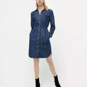 J. Crew Denim Blue Shirt Dress w/ belt size 00